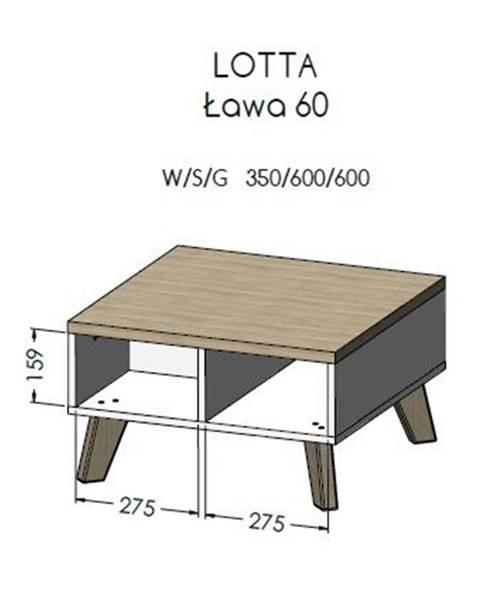 Artcam Artcam Konferenčný stolík Lotta 60cm