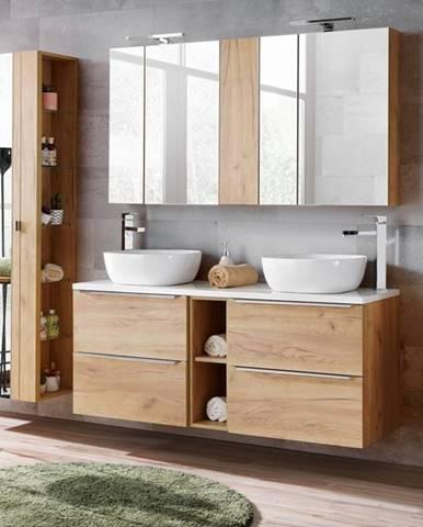 ArtCom Zložená široká skrinka pod umývadlo s vrchnou doskou CAPRI / dub zlatý FARBA VRCHNEJ DOSKY