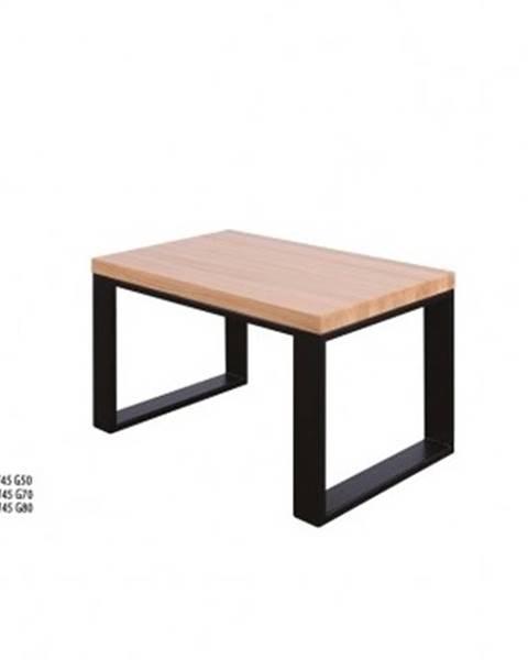 Drewmax Drewmax Konferenčný stolík Metal ST374 / dub / doska 4 cm