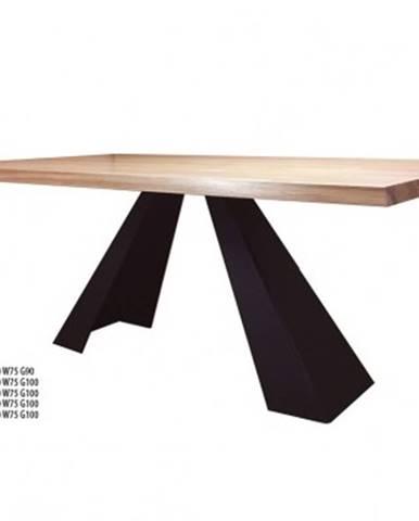 Drewmax Jedálenský stôl Metal ST370 / dub