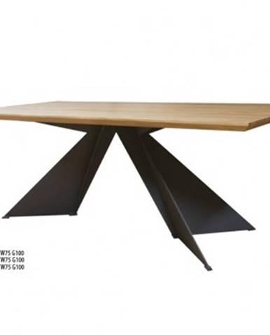Drewmax Jedálenský stôl Metal ST372 / dub