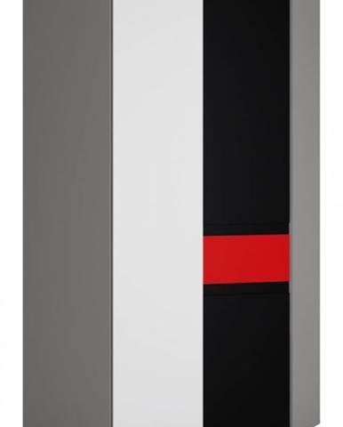 ArtExt Rohová šatníková skriňa LASER 2D TYP LASS02