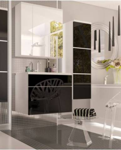Tempo Kondela Kúpelňová zostava Mason čierna / biela Kúpelňová zostava Mason