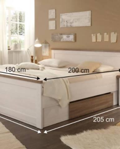 Tempo Kondela Manželská posteľ s nočnými stolíkmi Lumera