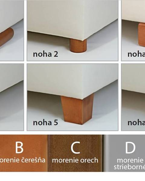 New Design New Design  Čalúnená posteľ NOVO s dlhým čelom Rozmer.