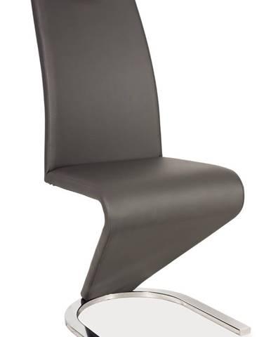 Signal Jedálenská stolička H-090 chróm/ sivá