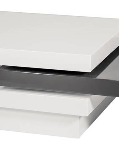 Signal Konferenčný stolík TRISTA biela/sivá