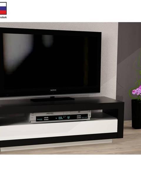 Tempo Kondela Tempo Kondela TV stolík AGNES čierna / biela
