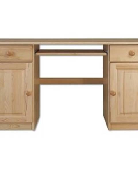 Drewmax Písací stôl - masív BR101   borovica
