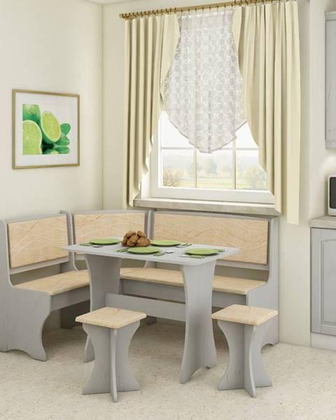 WIP WIP Rohový set s taburetkami