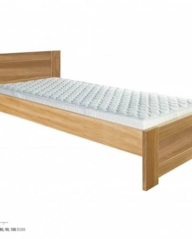 Drewmax Jednolôžková posteľ - masív LK261 | 80 cm dub