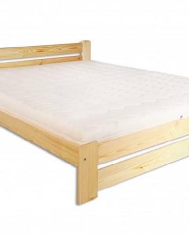 Drewmax Manželská posteľ - masív LK118 / 160 cm borovica