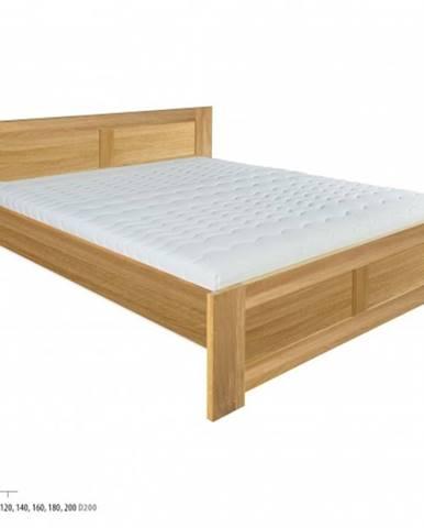 Drewmax Manželská posteľ - masív LK212 | 180 cm dub