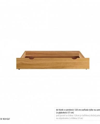 Drewmax Úložný box pod posteľ - masív LK271 | dub
