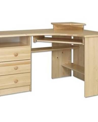 Písací stôl - masív BR108   borovica
