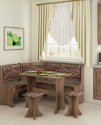 WIP Rohový set s taburetkami
