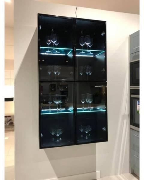 ArtExt ArtExt Vrchná kuchynská skrinka Napoli W3S/60 BLACK ALU
