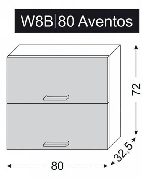 ArtExt ArtExt Vrchná kuchynská skrinka Napoli W8B/80 AVENTOS POVRCHOVÁ ÚPRAVA DVIEROK