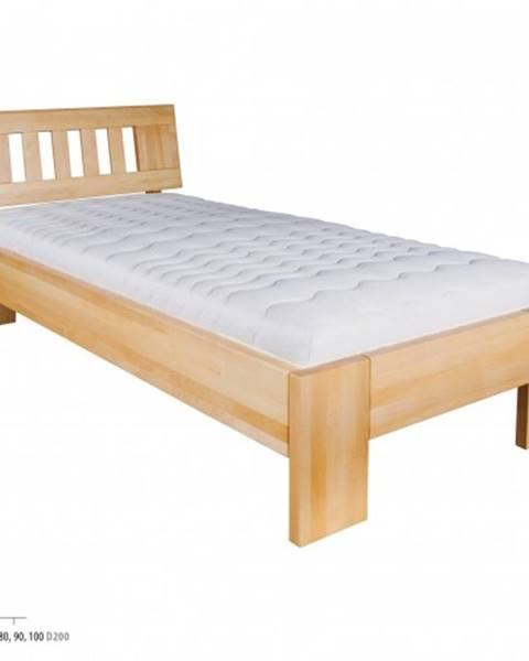 Drewmax Drewmax Jednolôžková posteľ - masív LK183   80 cm buk