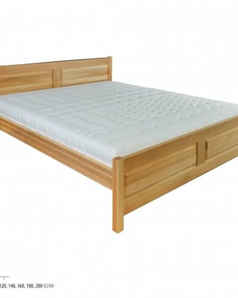 Drewmax Drewmax Manželská posteľ - masív LK109 | 180 cm buk
