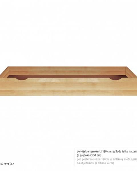 Drewmax Drewmax Úložný box pod posteľ - masív LK172 / buk