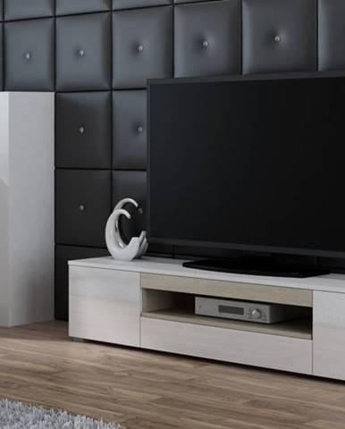 Artcam TV stolík Viva biela/biely lesk/sonoma