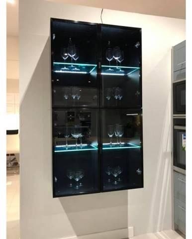 ArtExt Vrchná kuchynská skrinka Napoli W2S/40 BLACK ALU