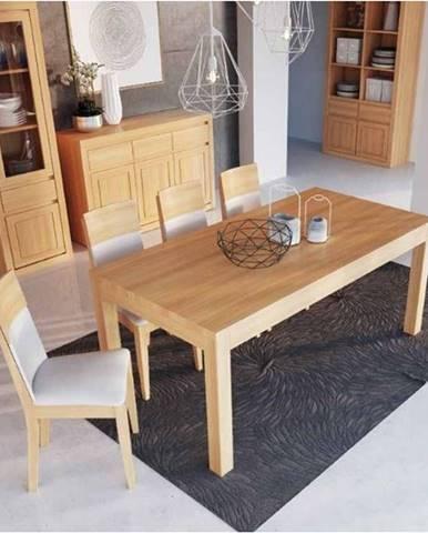 Drewmax Jedálenský stôl - masív ST303 - hrúbka 4 cm / dub