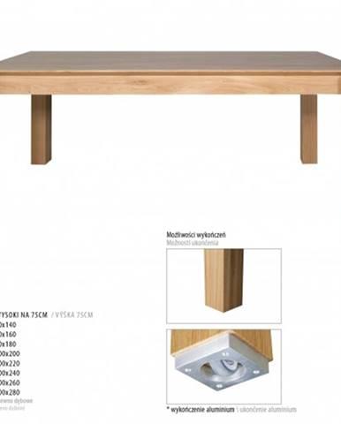 Drewmax Jedálenský stôl - masív ST381 / dub Doplnok