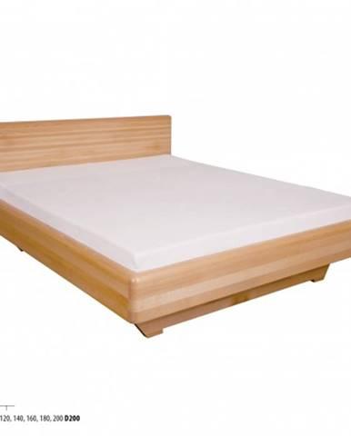 Drewmax Manželská posteľ - masív LK110   180 cm buk