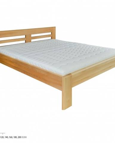 Drewmax Manželská posteľ - masív LK111 | 200 cm buk