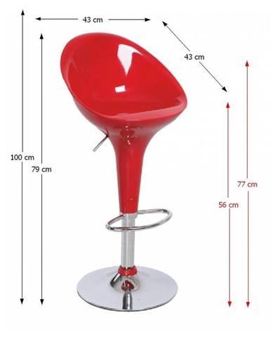 Tempo Kondela Barová stolička ALBA NOVA / červená