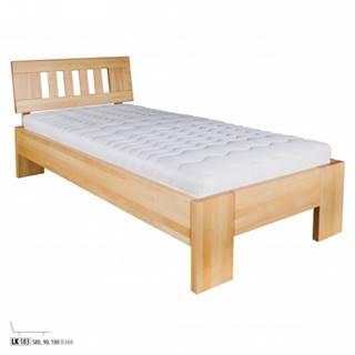 Drewmax Jednolôžková posteľ - masív LK183 | 80 cm buk