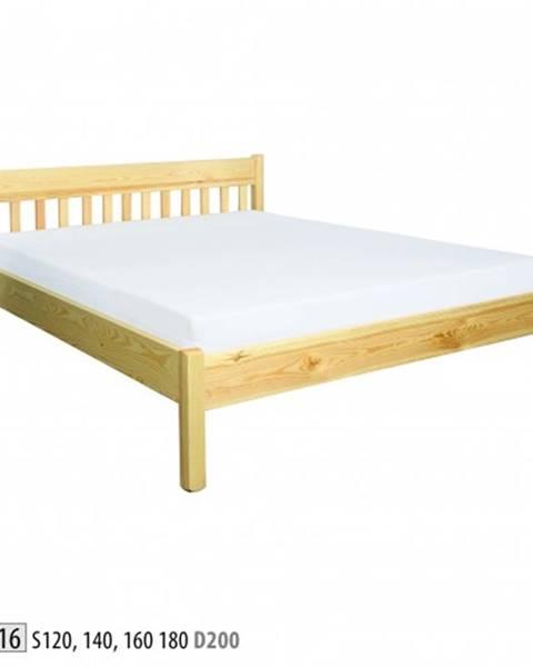 Drewmax Drewmax Manželská posteľ - masív LK116   160cm borovica