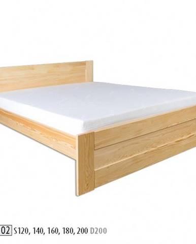 Drewmax Jednolôžková posteľ - masív LK102   120 cm borovica