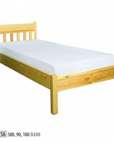 Drewmax Jednolôžková posteľ - masív LK156   80 cm borovica