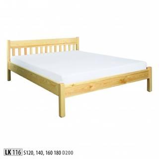 Drewmax Manželská posteľ - masív LK116   160cm borovica