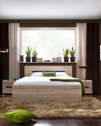 BRW Manželská posteľ Elpasso LOZ/160
