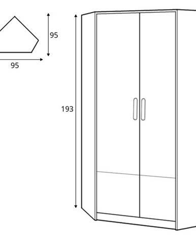 Dig-net nábytok Šatníková skriňa Pok PO-01