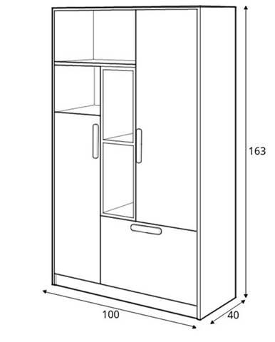 Dig-net nábytok Skrinka Pok PO-05