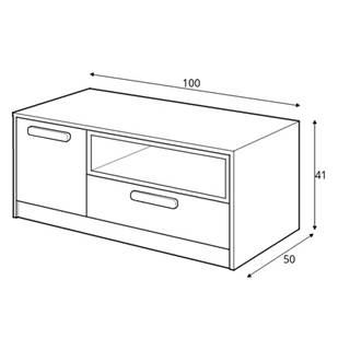 Dig-net nábytok TV stolík Pok PO-11