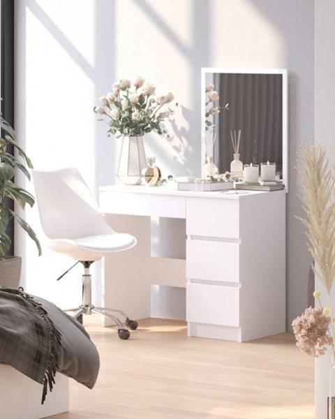ArtAko ArtAko Toaletný stolík so zrkadlom Clips T-6 / 60x50 biela