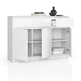 ArtAko Komoda Clips K140 3D 3SZ biela