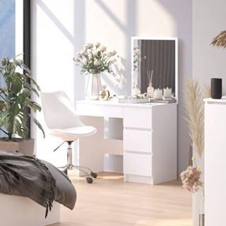 ArtAko Toaletný stolík so zrkadlom Clips T-6 / 60x50 biela