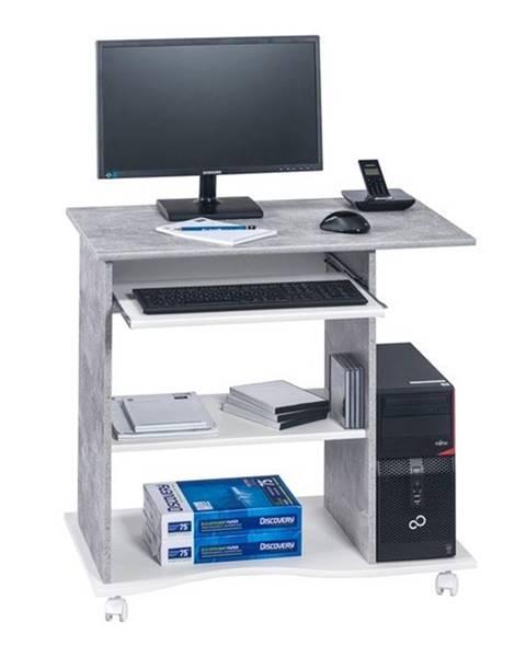 Sconto PC stôl CASH biela/betón