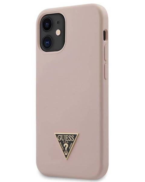 Guess Kryt na mobil Guess Silicone Metal Triangle na Apple iPhone 12 mini