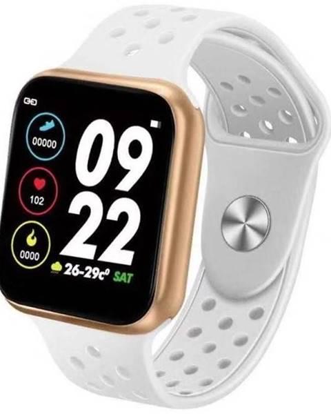 IMMAX Inteligentné hodinky Immax SW13 Pro biele/zlaté