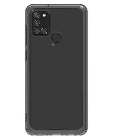 Kryt na mobil Samsung Galaxy A21s čierny/priehľadný
