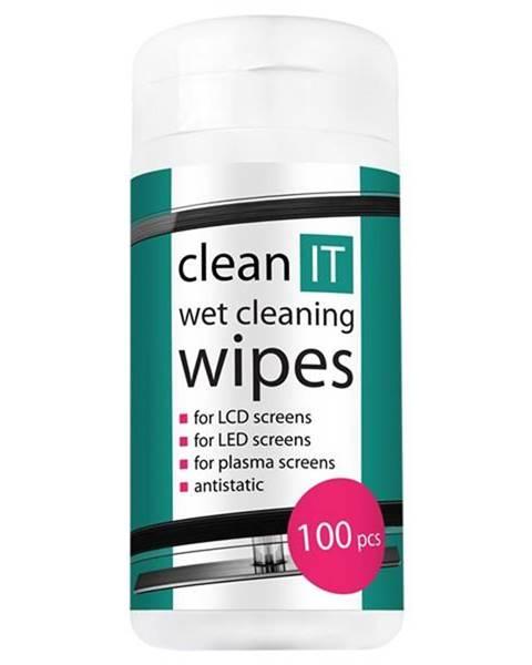 Clean IT Čistiace obrúsky Clean IT vlhčené na LCD/TFT, 100ks