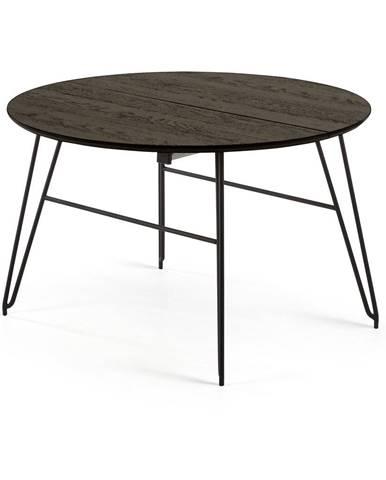 Čierny rozkladací jedálenský stôl La Forma Norfort, ⌀ 120 cm